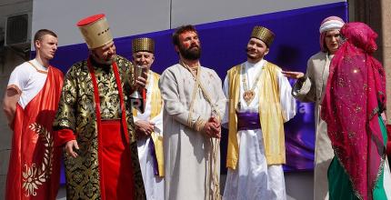 У Кропивницькому відбулася Пасхальна реконструкція «Відтворення пасхальних подій. Розп'яття та воскресіння спасителя Христа»